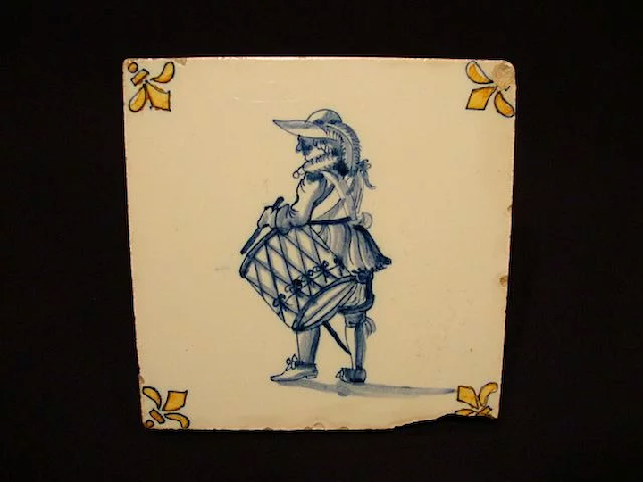 Great Dutch Delft Ceramic Tile With
