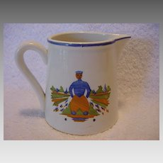 Nice German Creamer / Pitcher with Dutch Man ~ Villeroy & Boch - Schramberg MAJOLICA FACTORY (Germany) - ca 1928 - 1945
