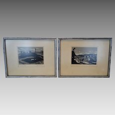 """Very Nice Serigraph Prints of """"The Fiddler on the Roof"""" and """"Wind and Water""""  Musical Paintings ~ Signed By Graphic Artist  John Mosiman 1931-2012"""