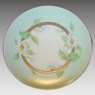 50% OFF!  Beautiful Pickard Decorated Porcelain Cabinet Plate ~ Hand Painted with White Daisies ~ Artist Signed ~ Pickard Studios Chicago IL 1912-1918