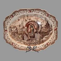 "Wonderful Turkey Platter ~ 20 1/2"" ""His Majesty"" ~ Pat'n Pending ~  Johnson Brothers Staffordshire England Early 1900's"