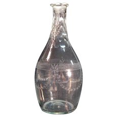 Early Blown and Engraved Decanter ca. 1810