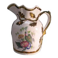 Ironstone Pitcher with Transfer and copper Luster ca.1855