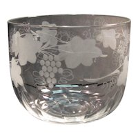 19th Century Blown and Engraved Fingerbowl