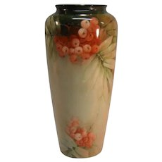 "Hand Painted American ""Belleek"" Vase ca. 1889-1906"