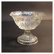 Early Blown-Molded Glass Compote