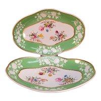 Pair Spode Dishes circa 1805-10