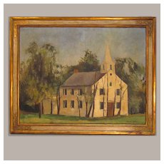 Martha Ryther Painting of White Church 1937