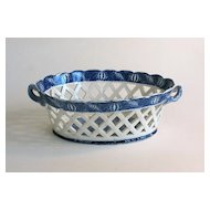 Staffordshire Blue and White Basket circa 1835