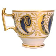 English Porcelain Coffee Cup ca 1815