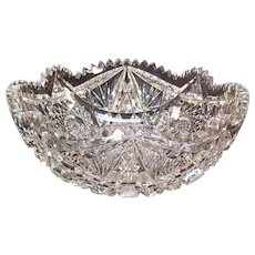 "American Brilliant Period 9"" Cut Glass Bowl ca. 1900"