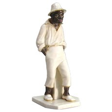 Royal Worcester Figurine of Black Man 1882