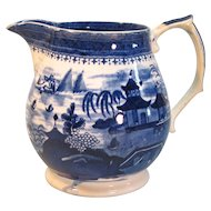English Willow Pattern Cider Pitcher ca 1835