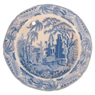 "Davenport Soup Plate ""Chinoiserie Ruins"" ca. 1835"