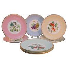Set of 8 Minton Cabinet Plates ca. 1885