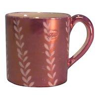 Toy Pink Luster Mug ca. 1825