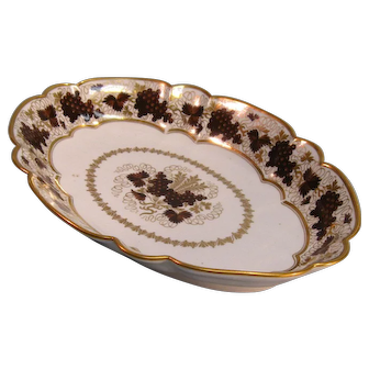Barr Period Worcester Porcelain Oval Dish ca. 1800