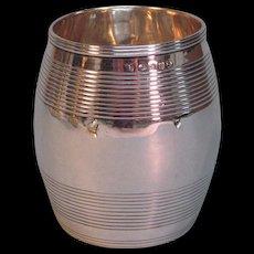 English Sterling Barrel Form Beaker 1810-11