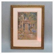 Watercolor of New England Doorway Circa 1890-1910