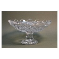 Anglo-Irish style Cut Glass Compote