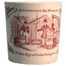 Staffordshire Franklin Maxims Child's Mug ca. 1835