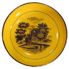 Canary Staffordshire Saucer ca. 1820