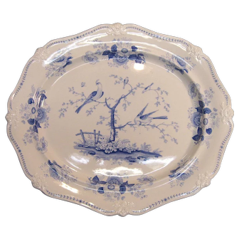 "Large Ridgway ""Oriental Birds"" Platter, ca. 1830"