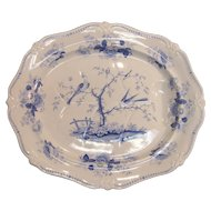 "Large Ridgway ""Oriental Birds"" Meat Platter, ca. 1830"
