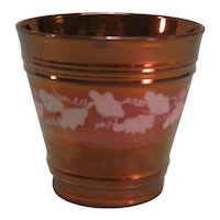 Copper Luster Beaker with Resist Decoration ca. 1840