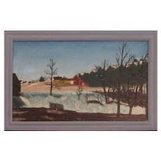 Maine Flood Folk Art Painting