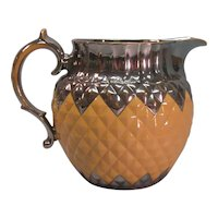 "Large Silver Luster Trim ""Pineapple"" Jug ca. 1820"
