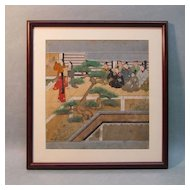 Framed Asian Painting on Paper