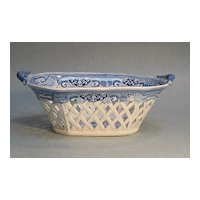 Staffordshire Fruit Basket circa 1825 (as is)