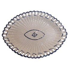 Pearlware Oval Basketweave Tray ca. 1800