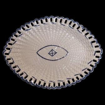 Pearlware Oval Basketweave Tray ca. 1800