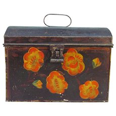 Tole Painted Tin Box ca. 1830