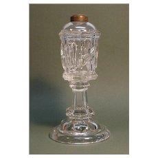 Flint Glass Whale Oil Lamp ca. 1850