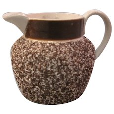 Small 19th Century Earthenware Pitcher with Sand Body