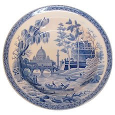 """Spode Blue and White  """"Rome"""" or """"Tiber"""" Soup Plate ca. 1815"""