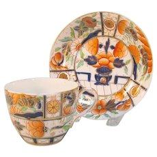 "English Porcelain ""Japan"" Cup and Saucer ca 1810"