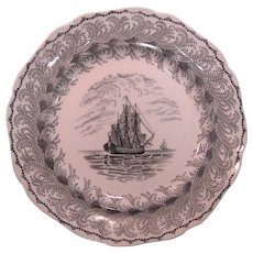 "Staffordshire Plate ""Neptune"" ca. 1835"