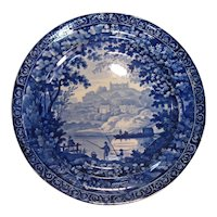 "Clews Staffordshire 10"" ""Fisherman"" Plate ca. 1830"