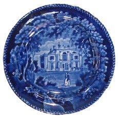 Villa in Regent's Park Staffordshire Plate ca. 1830