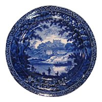"Clews Staffordshire ""Fisherman"" Plate ca. 1830"