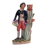 Staffordshire Mantel Figure of a Man ca. 1860