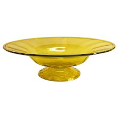 Large Yellow Blown Glass Center Bowl