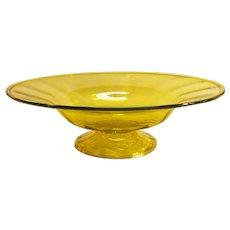 Large Yellow Blown Glass Center Bowl
