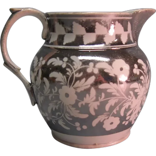 Silver Luster Resist Pitcher ca. 1825