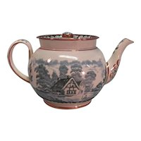 Transfer Teapot with Luster Trim ca. 1830