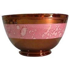 Copper Luster Bowl with Pink Splash Luster ca. 1840